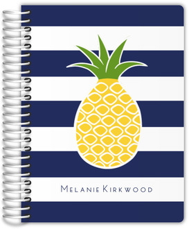 Pineapple Navy Stripe Mom Planner
