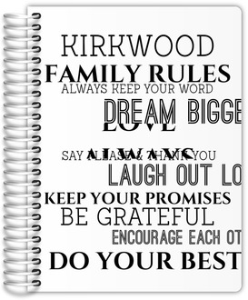 Family Rules Custom Family Planner