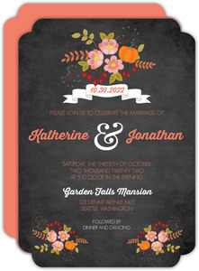 Autumn Floral Wedding Invitation