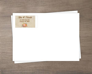 Fall Pumpkin Wreath Wedding Envelope