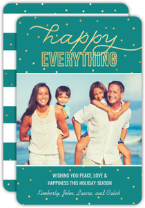Happy Everything Faux Gold Holiday Photo Card