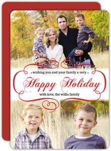 Elegant Photo Holiday Photo Card
