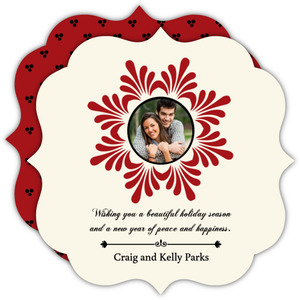 Elegant Snowflake Holiday Photo Card