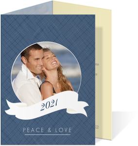 Blue and White Holiday Photo Card