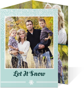 Joyful Green Christmas Photo Card