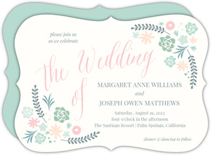 Succulent Floral Wedding Invitation