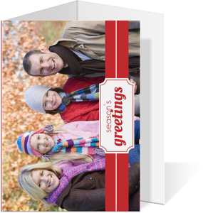 Classic Red and White Holiday Photo Card
