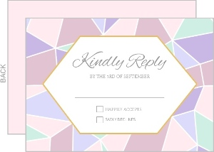 Geometric Pastel Wedding Response Card