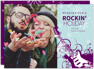 Rock N Roll Holiday Photo Card