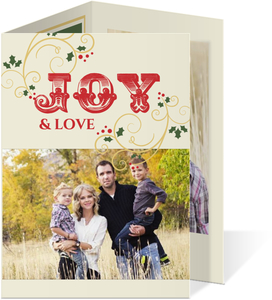 Wrapped In Joy Holiday Photo Card