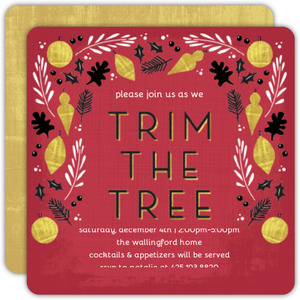 Trim The Tree Party Invitation