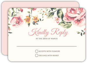 Floral Garden Wedding Response Card