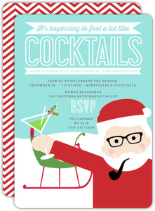 Beginning to Look Like Cocktails Holiday Party Invitation