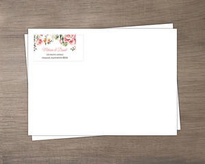Floral Garden Wedding Envelope