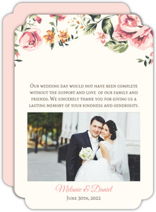 Floral Garden Wedding Thank You Card