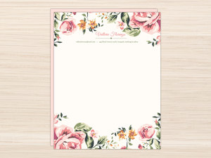 Letter writing paper pink floral frame letter writing paper mightylinksfo