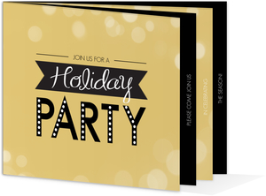 Golden Lights Holiday Party Invitation