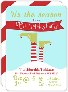 Tis an Elfn Holiday Party Invitation