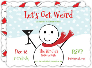 Get Weird Holiday Party Invitation