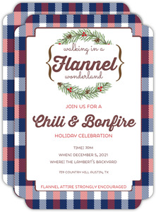 Flannel Holiday Party Invitation