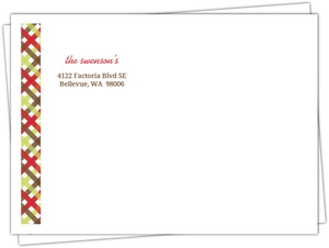 Red Gingham Christmas Envelope