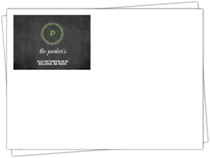 Green And Chalkboard Holiday Envelope