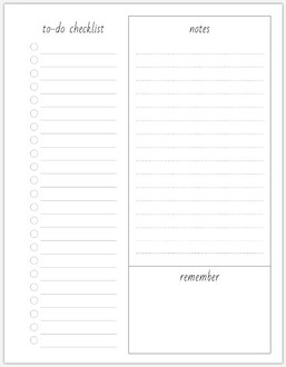 Organized To-Do List Pages
