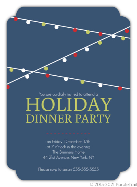 hanging party lights holiday dinner party invitation holiday party
