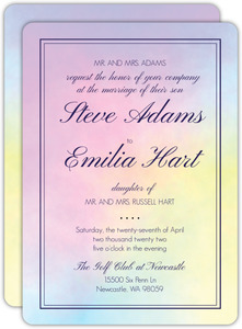 Rainbow Watercolor Wedding Invitation