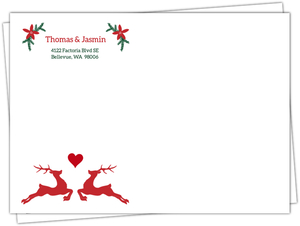 Rustic Reindeer Christmas Wedding Custom Envelope