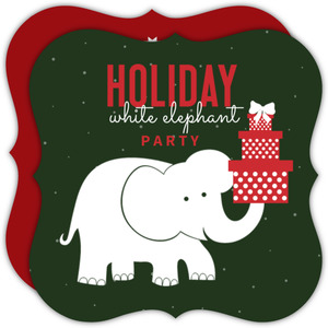 Gift Juggling White Elephant Party Invitation
