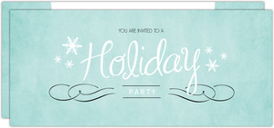 Hollywood Glamour Turquoise Holiday Party Invitation