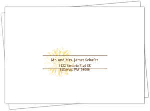 Simple Sunflower Brown And Yellow Rsvp Envelope