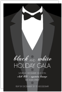 Formal Black Tie Holiday Party Invitation