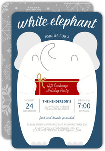 Cute Gift Exchange Holiday Party Invitation