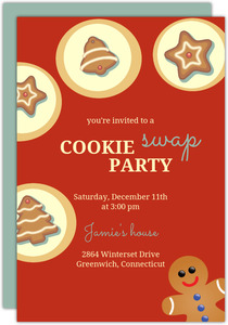 Cookie Party Holiday Invitation