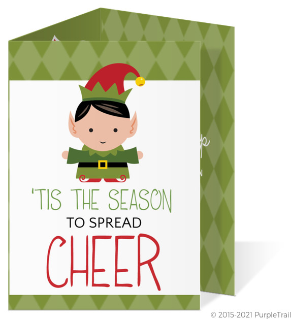 Green Elf Cheer Holiday Party Invitation Holiday Party Invitations