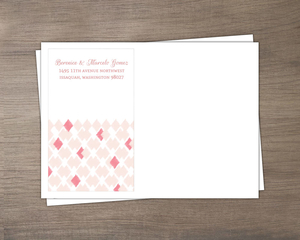Pink Ikat Pattern Wedding Envelope