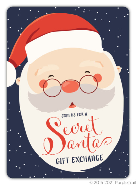 Long Beard Secret Santa Holiday Party Invitation | Holiday Party Invitations