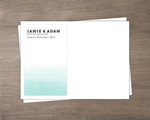 Modern Dip Dyed Watercolor Wedding Envelope