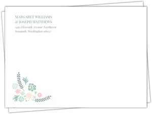 Succulent Floral Wedding Envelope