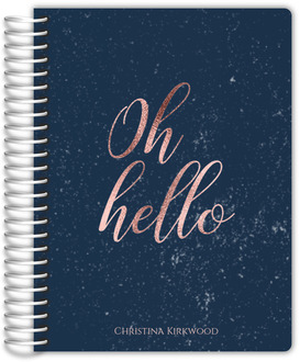 Oh Hello Faux Rose Gold Student Planner