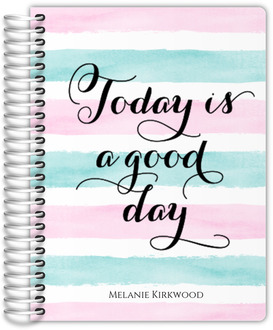 Watercolor Stripes Good Day Student Planner