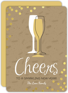 Modern Glass Design New Years Card