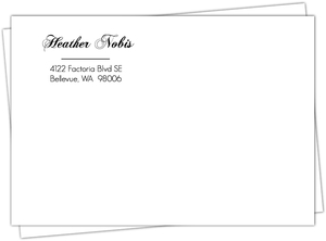 Orange and Black Elegant  Halloween Wedding Envelope