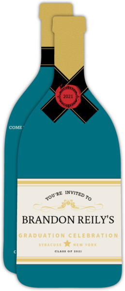 Champagne Celebrations Graduation Invitation