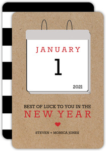 New Year Calendar Greetings