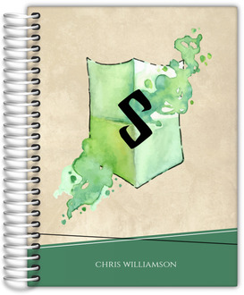 Rustic Green Watercolor Shield Student Planner