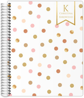 Glitter Pink Polka Dots Student Planner