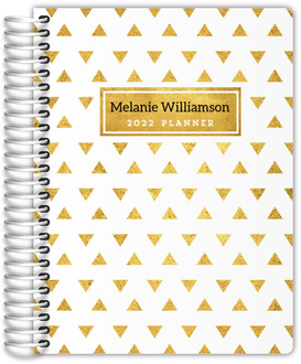 Golden Modern Triangle Pattern Student Planner